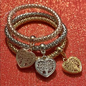 "Pandora's box ""Tree of Life"" heart bracelets"